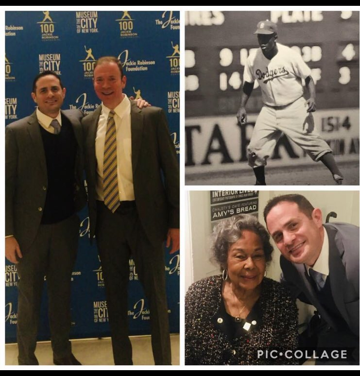 Blessed to represent @GoldinAuctions at the 100th Birthday of Jackie Robinson with the Jackie Robinson Foundation (@JRFoundation), the beautiful 96 year old wife of Jackie, Rachel Robinson was also in attendance! #Jackie42 #JackieRobinson100 #mlb