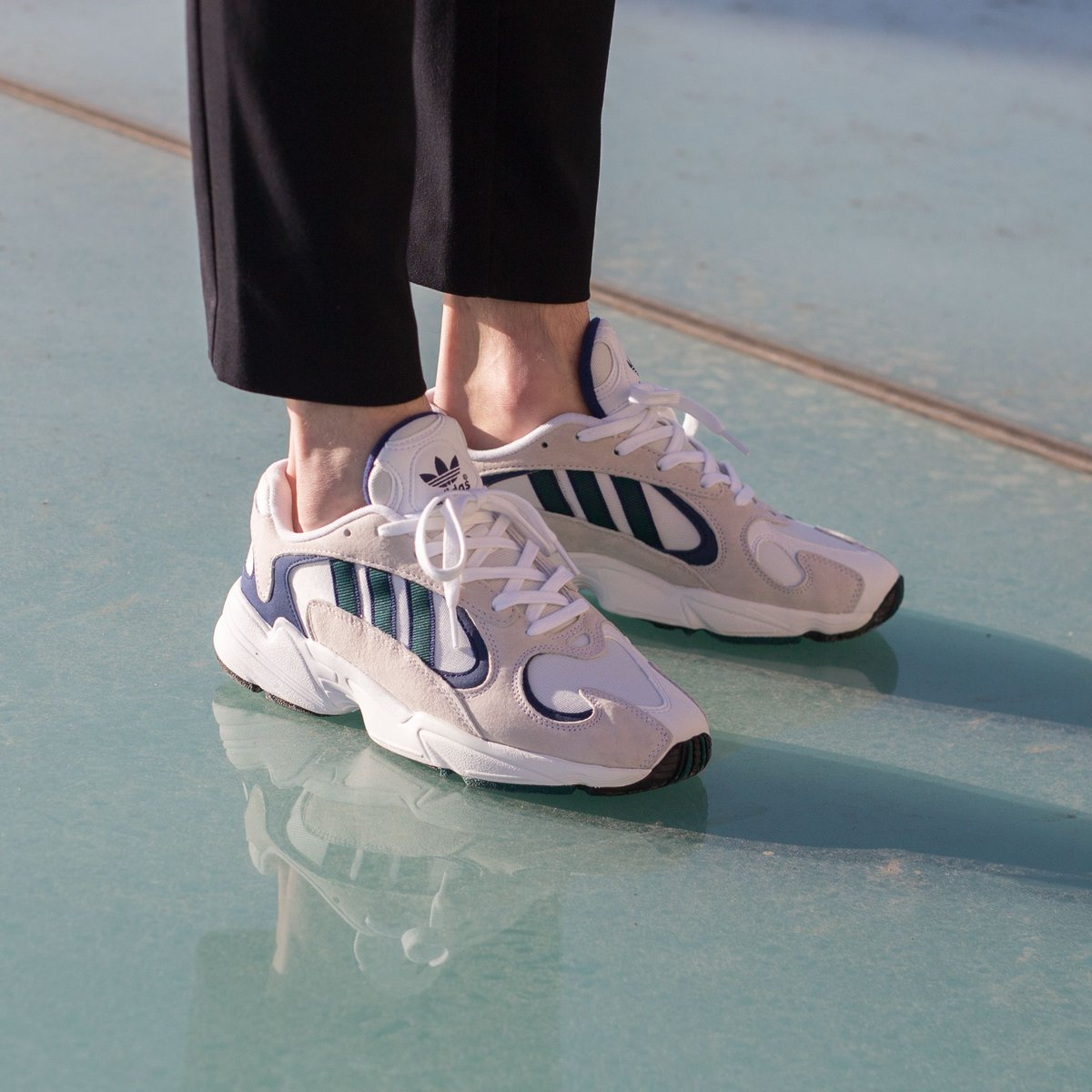 ADIDAS YUNG 1 WHITE, NOBLE GREEN