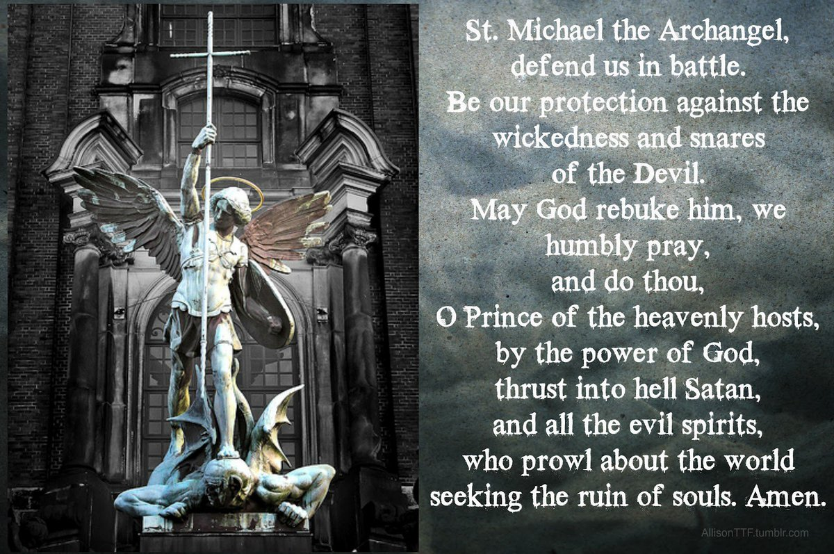 archangel michael prayer - HD 1600×1063