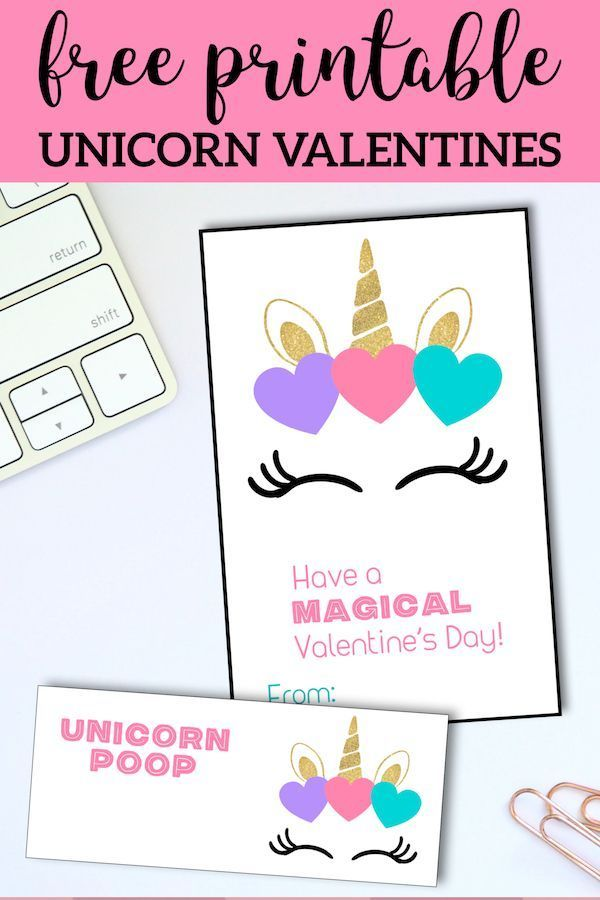 photo about Free Printable Unicorn Valentines called Basically Pinned towards Cricut: Free of charge Printable Unicorn Valentine