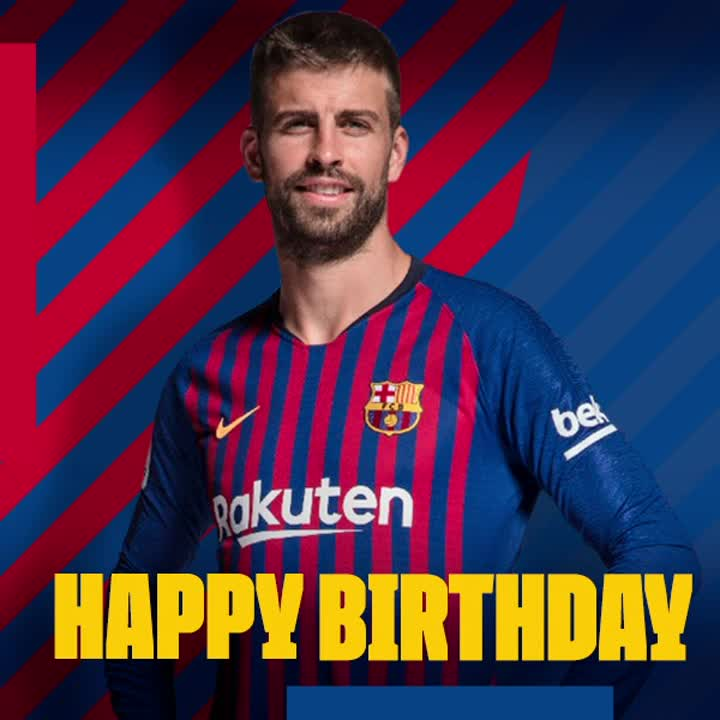 🎂 Happy birthday, @3gerardpique! 🎁 🎊 Hope you have a great day! 🎉 RT to congratulate him