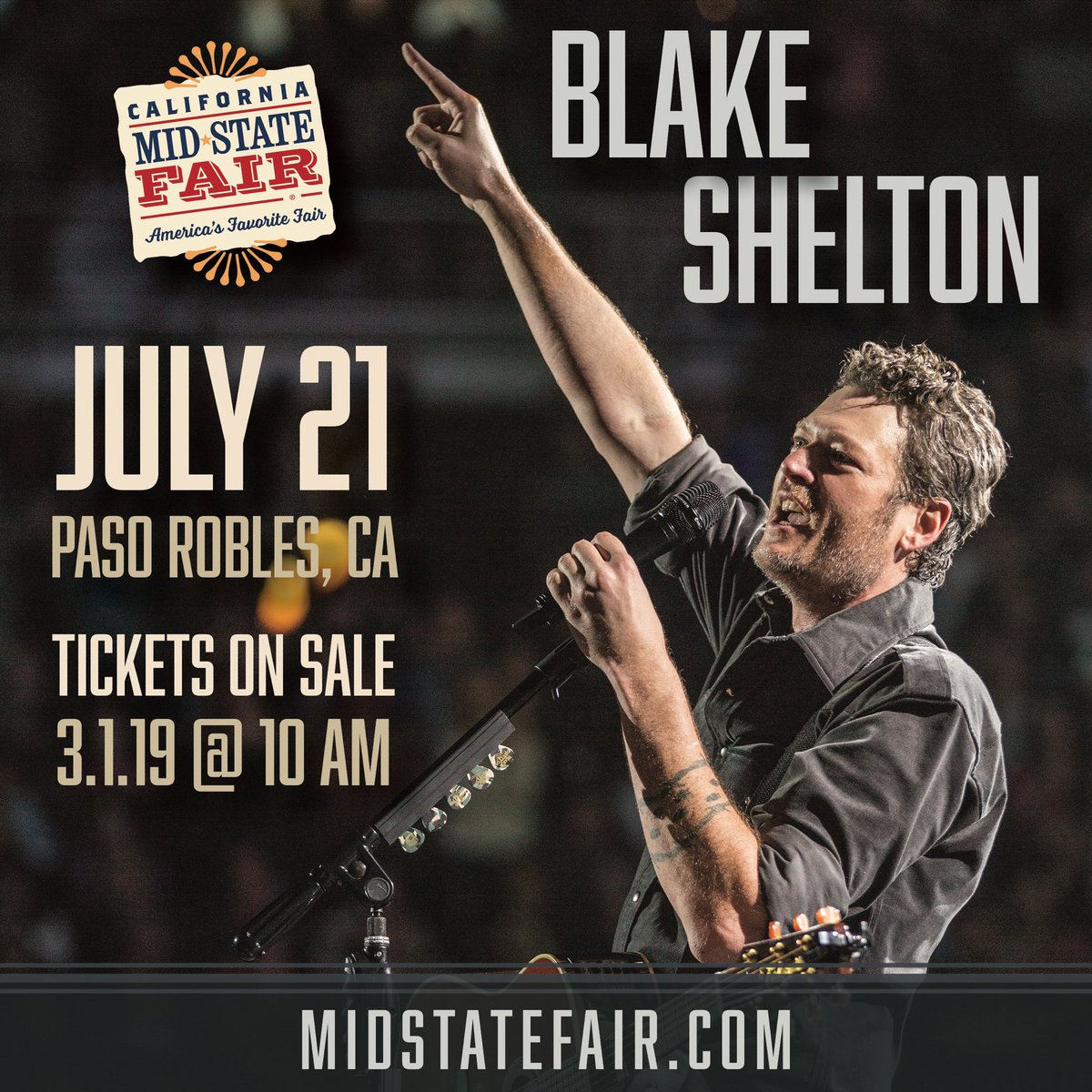 Paso Robles Mid State Fair 2020.California Mid State Fair On Twitter Just Announced Blake