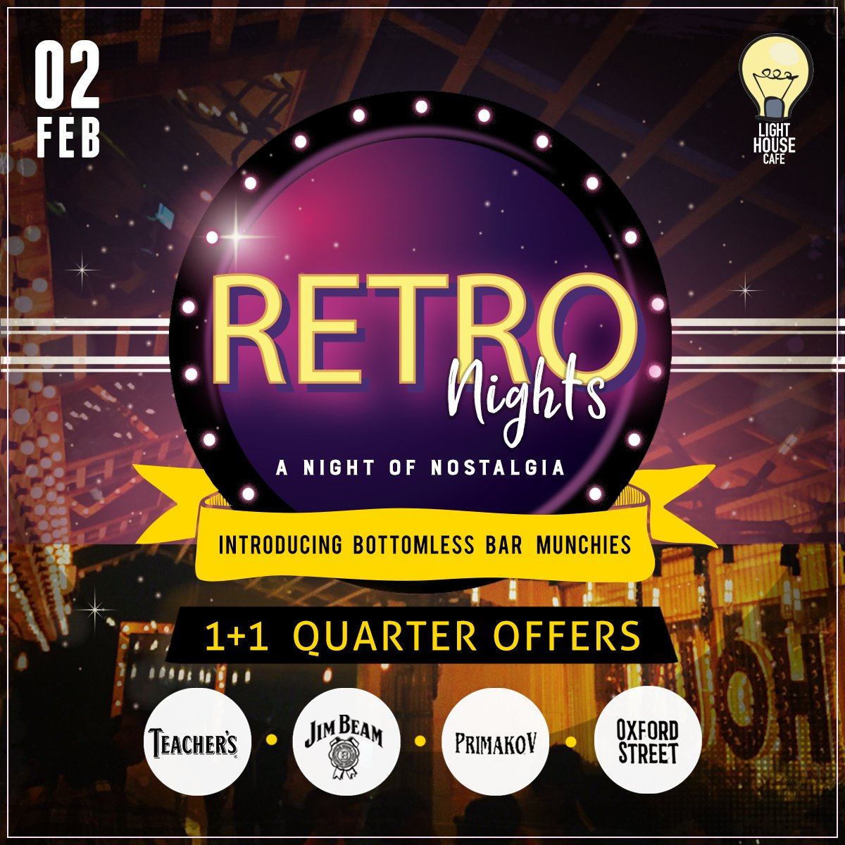 Time to feel a little nostalgic & a little happy with our Retro Night Offers only at Light House Cafe Mumbai  #LHC #Worli #Mumbai #Zomato #Blogpost #bloggers #Weekday #CurlyTales #Weekends #Thingstodo #Mumbaifoodie #Foodgasm #mumbaifood #indianblogger #dailyfoodfeed #blogspot