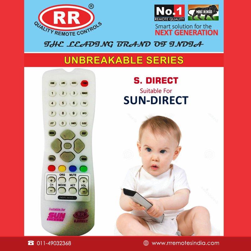 RRremotesindia SUN DIRECT HD SET TOP BOX Remote Controller from the