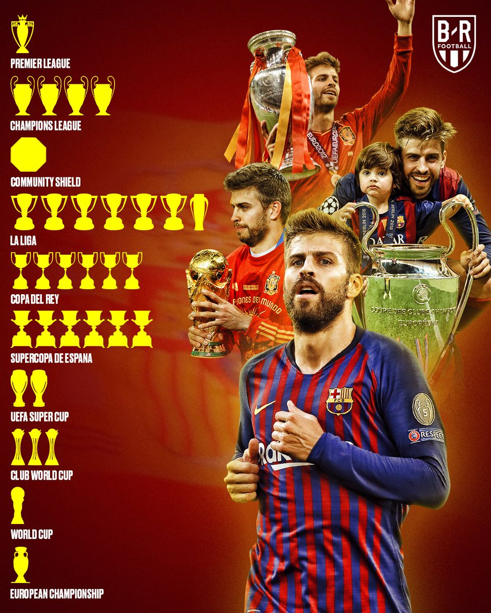 Gerard Pique turns 32 today  In his career he's won it all 🏆