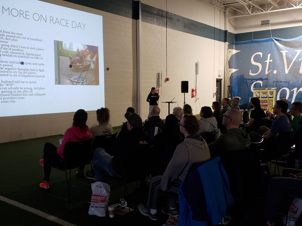 @DefiningSports SVSP Triathlon Clinic underway.  Kicking off with Dr. Amy Corrigan and her @IRONMANtri adventures!