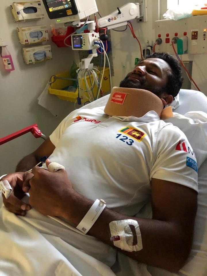 Dimuth Karunaratne is expected to be discharged tonight. Will bat tomorrow. #AusvSL