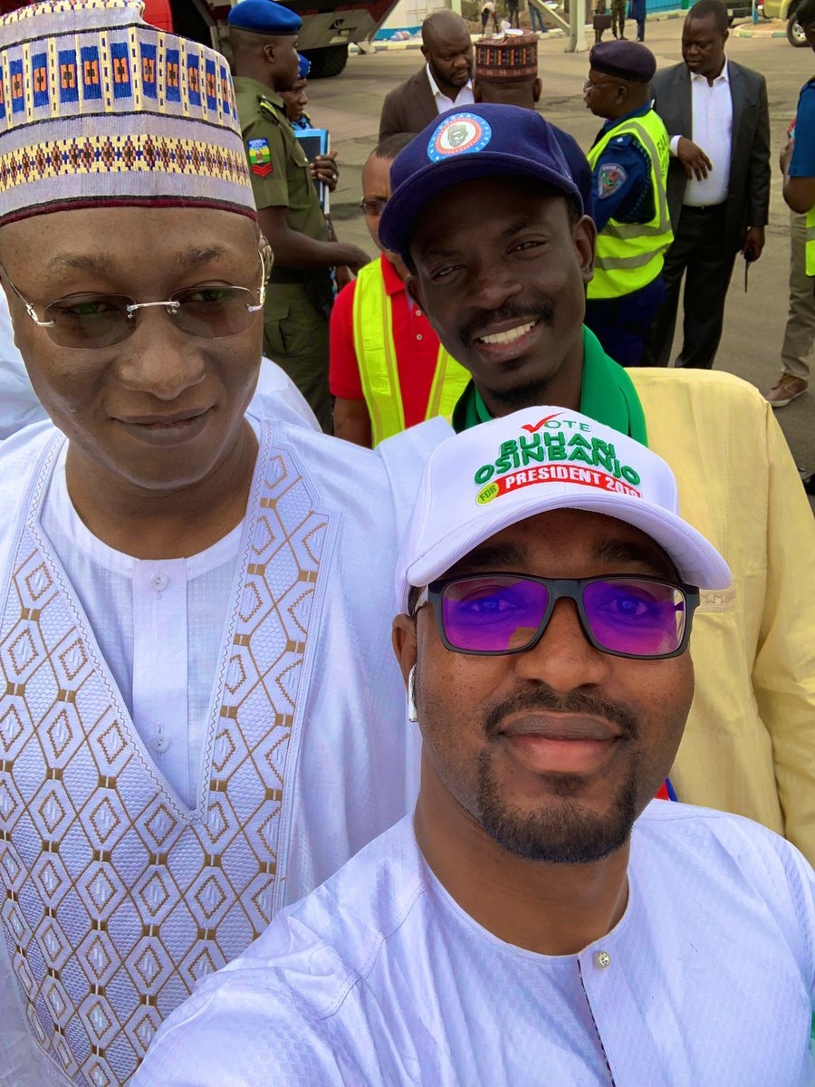 DyZO9LWWsAAHc2i - Just In: PDP's Campaign DG Sighted At Buhari's Gombe Presidential Rally(Picture)