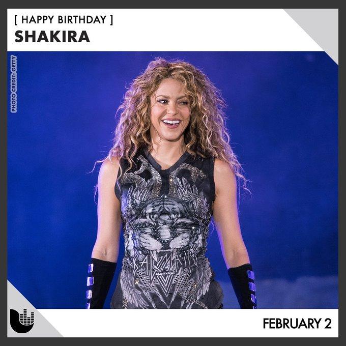 Join us on wishing a happy birthday to Shakira! /// Únete a nosotros para desear un feliz cumpleaños a Shakira.