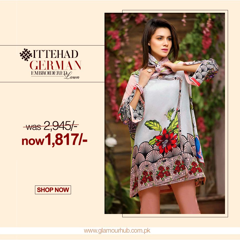 d204d7430e Ittehad German Embroidered Collection Shop now : https://goo.gl/rN1wwU