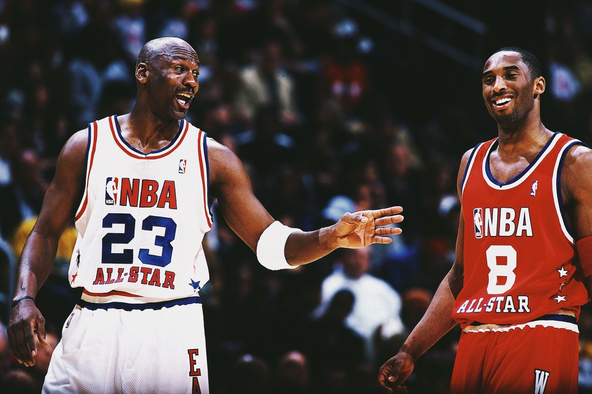 16 years ago today, MJ reminded Kobe how many rings he had during his final All-Star Game 🔥