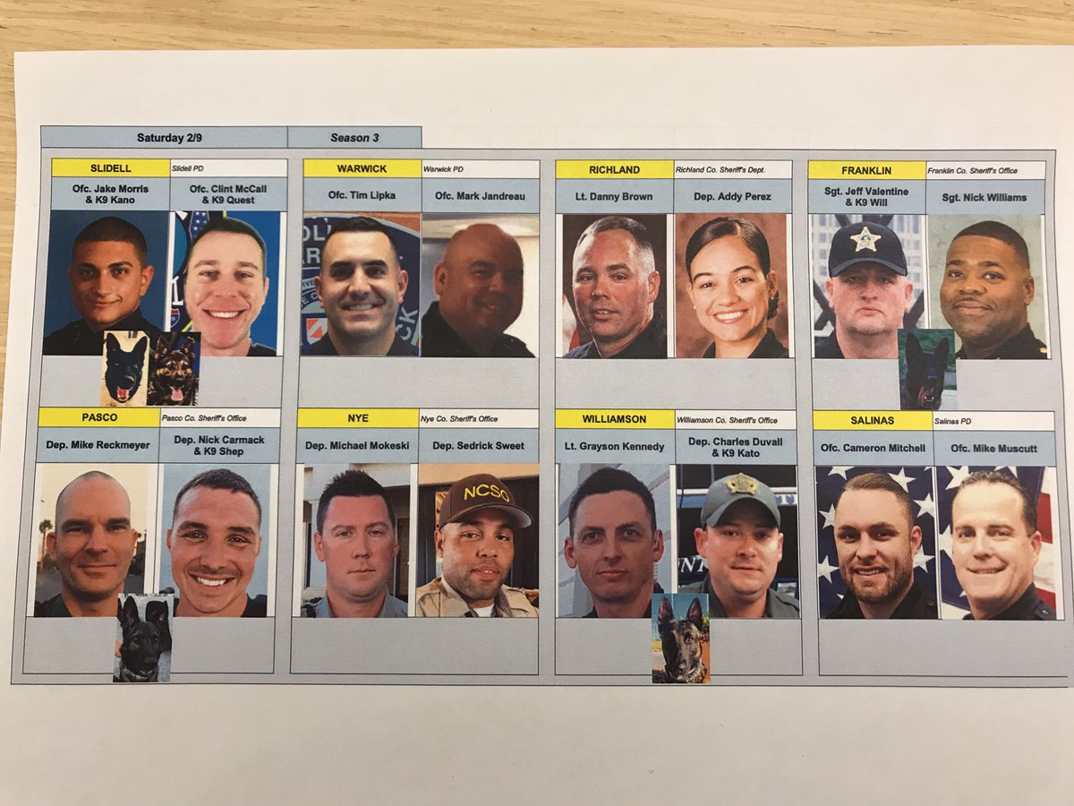 Tonight's #LivePD lineup! See you at 9p ⁦@AETV⁩