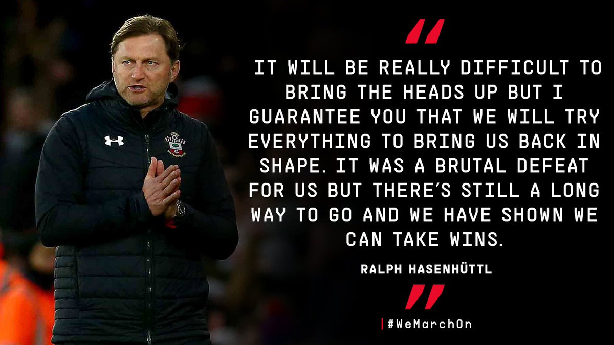 💬  Ralph Hasenhüttl on bouncing back after yesterday's defeat to #CardiffCity in the #PL: