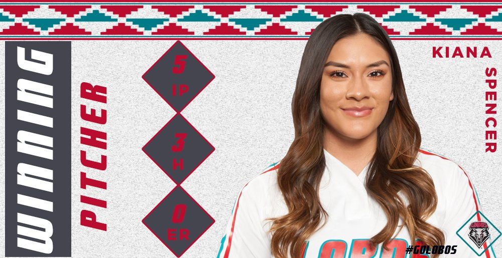 Kiana Spencer goes the full 5 innings and only allows 3 hits in the game.  More importantly, 0 RUNS ALLOWED.  #GoLobos