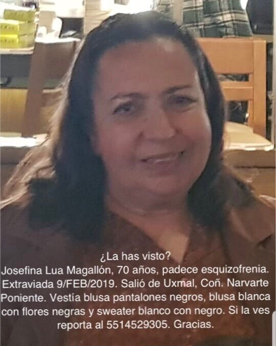 Se activa #AlertaPlateada para localizar a Doña Josefina. ¿La has visto? Por favor abre la foto y dona un RT. #Narvarte #BenitoJuárez #CiudaddeMéxico