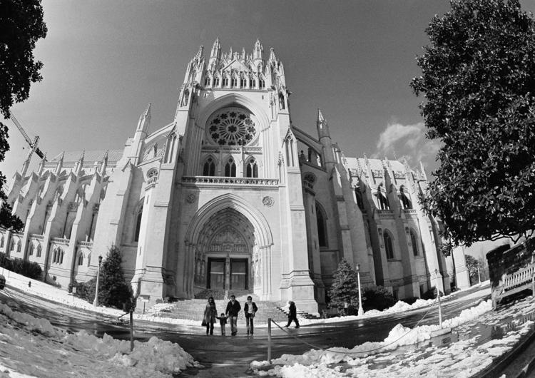 Washington National Cathedral in Washington, DC on this date February 9 in 1974. Photo by Charles Tasnadi. <br>http://pic.twitter.com/Cy4kLVRCRV