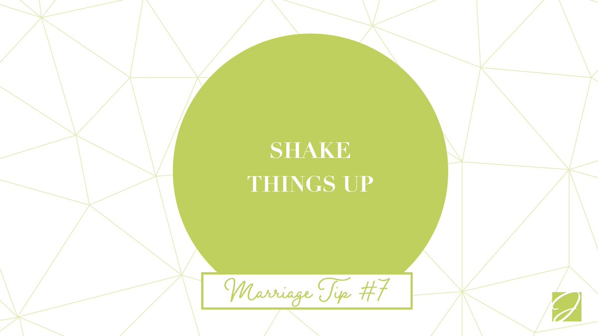 Marriage Tip #7: Routine is boring. Do something different every now and then to make your marriage a little more interesting! #MarriageTip  #ShakeThingsUp
