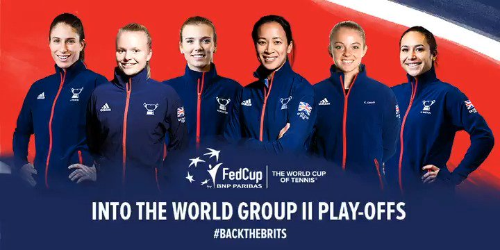 🇬🇧 The GB Fed Cup Team are into the World Group II Play-Offs 🇬🇧 #BackTheBrits 🇬🇧