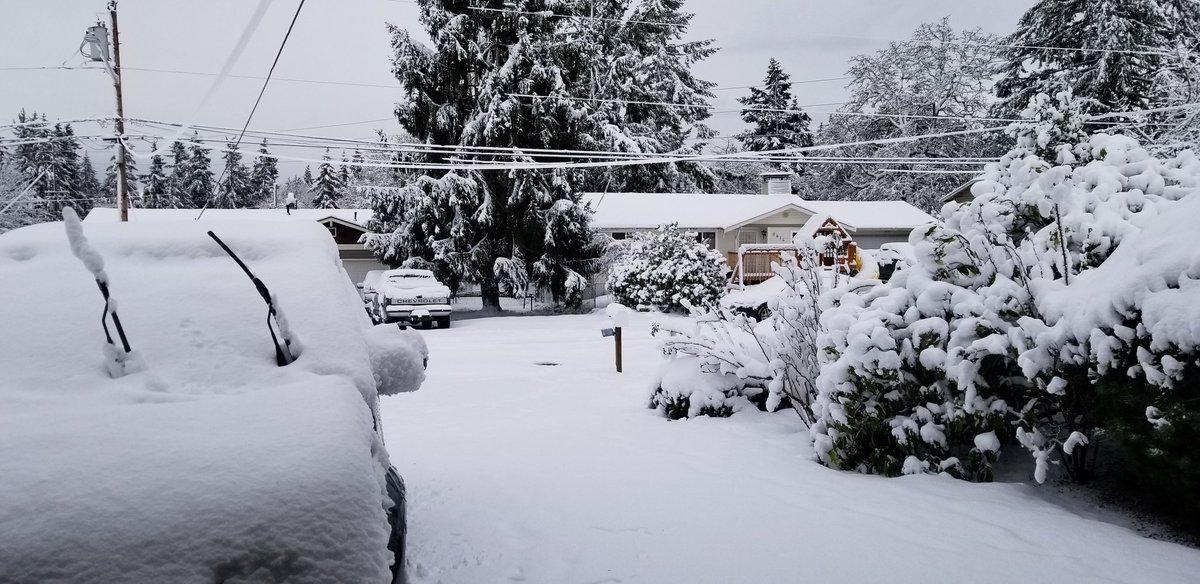 Got a little snow snow last night