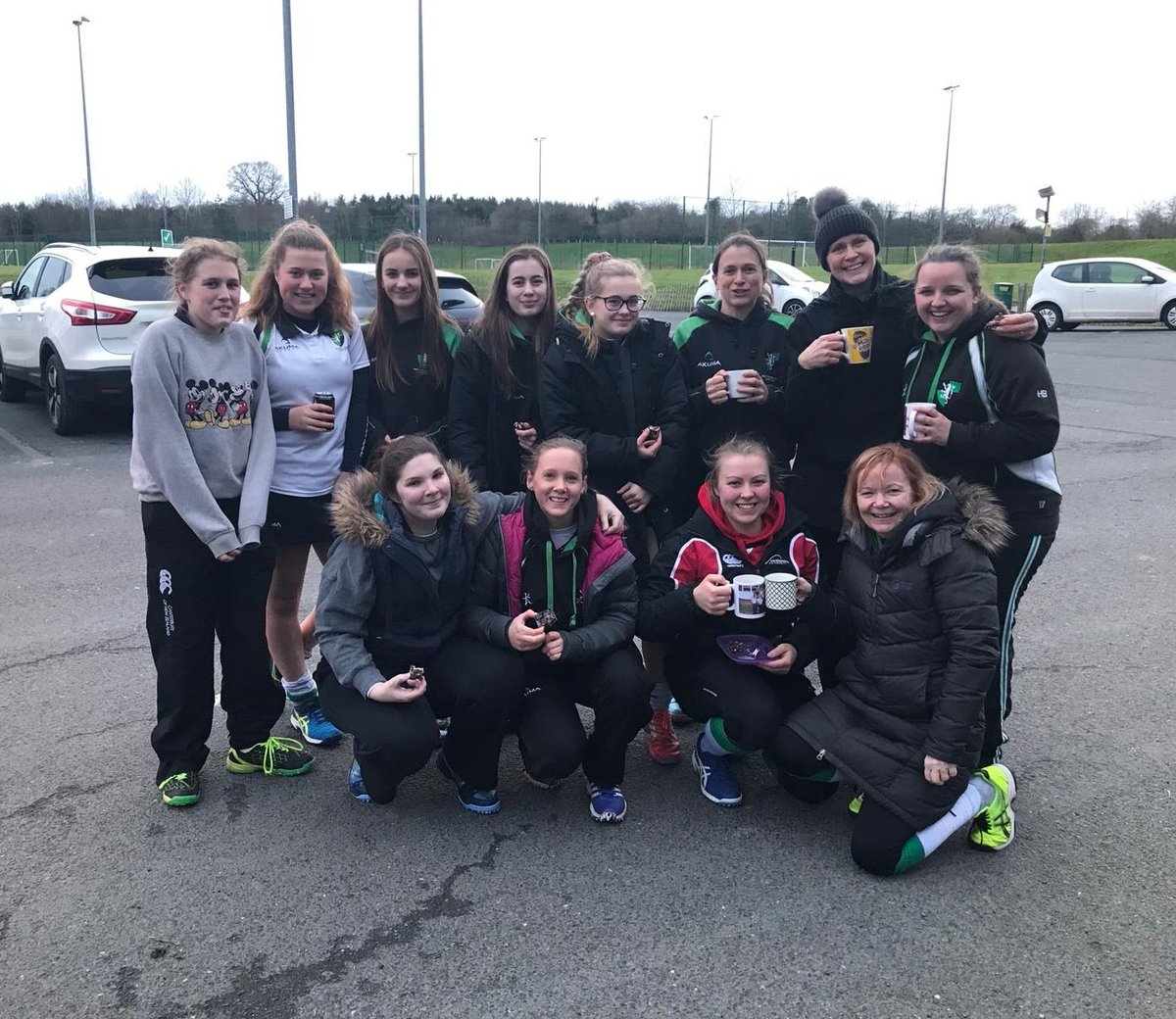 Ladies 2s enjoyed a 2-0 win over @StratfordHockey. Goals from Emilia and Charlotte 👌🏼  #WeAreHampton 💚🖤💚