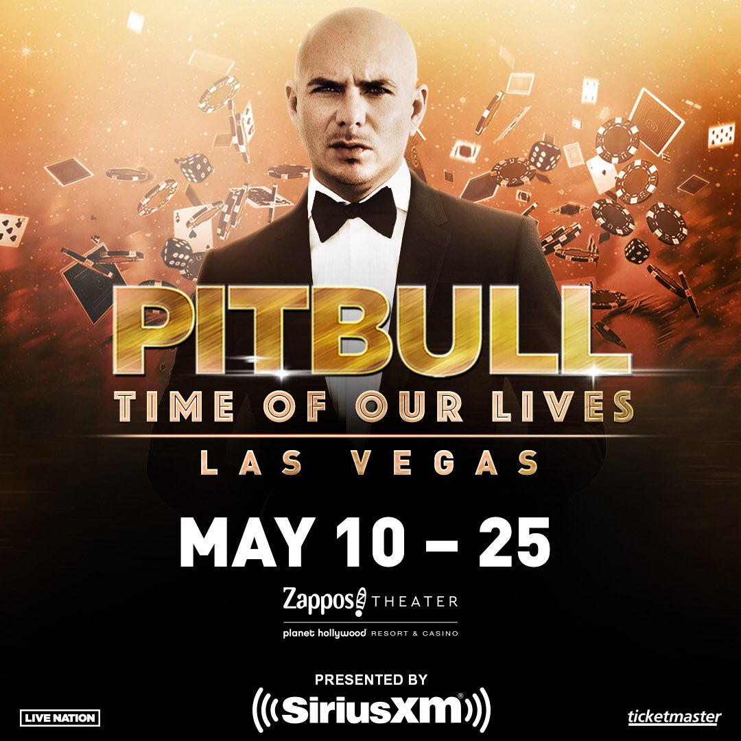 See you soon, Vegas! 💰 🎲 🎰   All tickets are on sale now at http://ticketmaster.com/pitbull 🔥