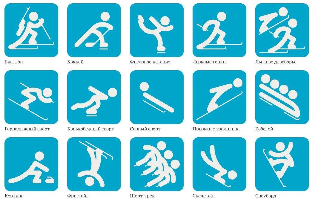 Годика, картинки зимние виды спорта