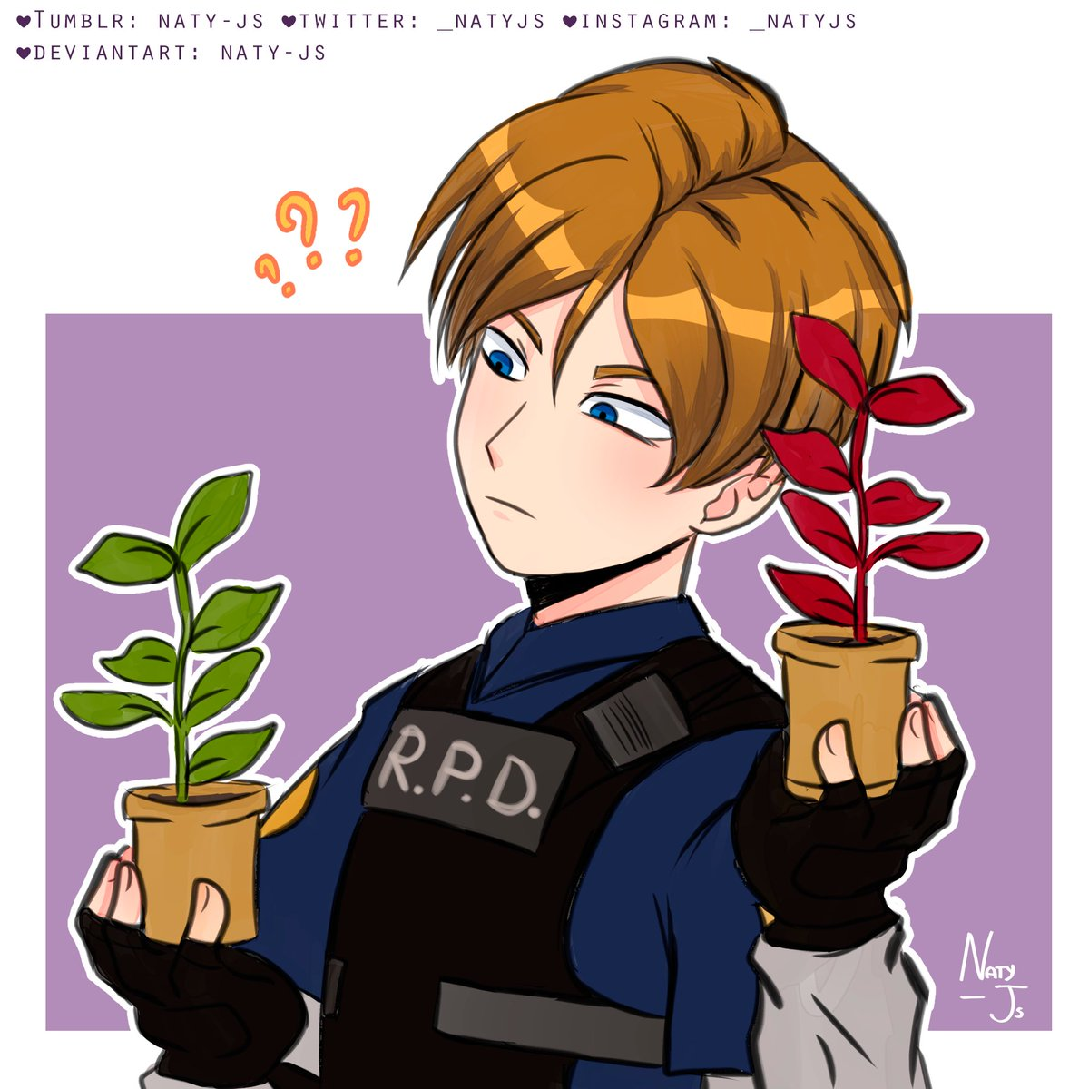 Naty Js On Twitter Leon S Kennedy Don T Copy Repost Or Edit My Artwork I Don T Play The Game Yet But I M Excited To Do It P S I Love Leon