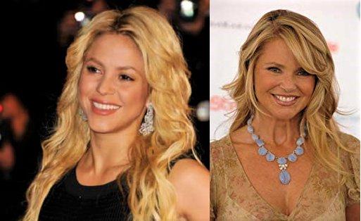 HAPPY BIRTHDAY !  Shakira and Christie Brinkley