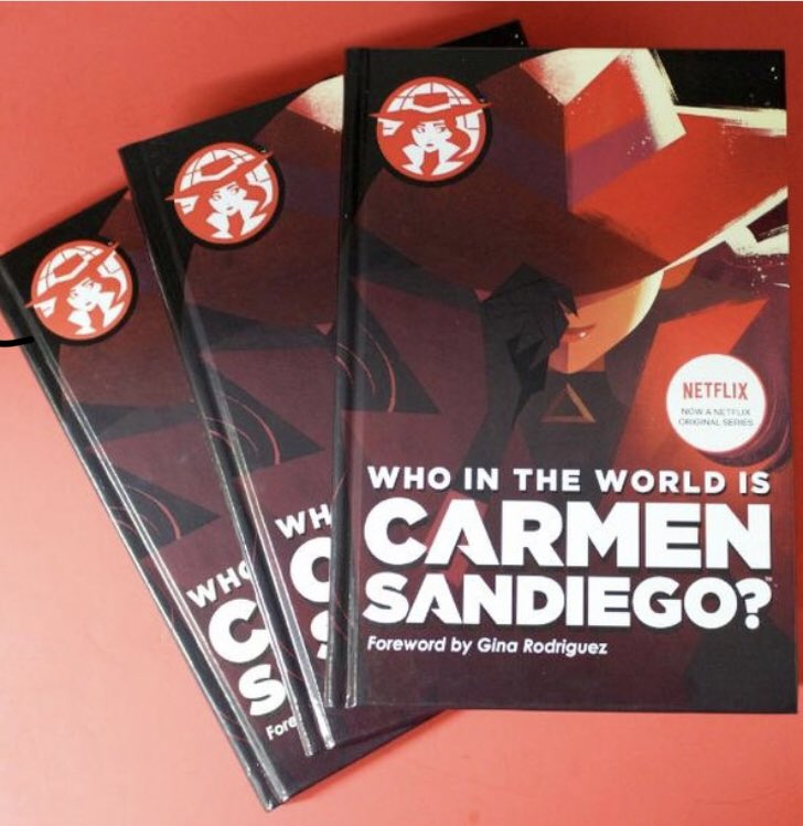 """The """"Who in the World is Carmen Sandiego?"""" book is now available! Name your favorite Carmen episode to be entered to win a copy!#FollowTheFedora #CarmenSandiego @HMHKids"""