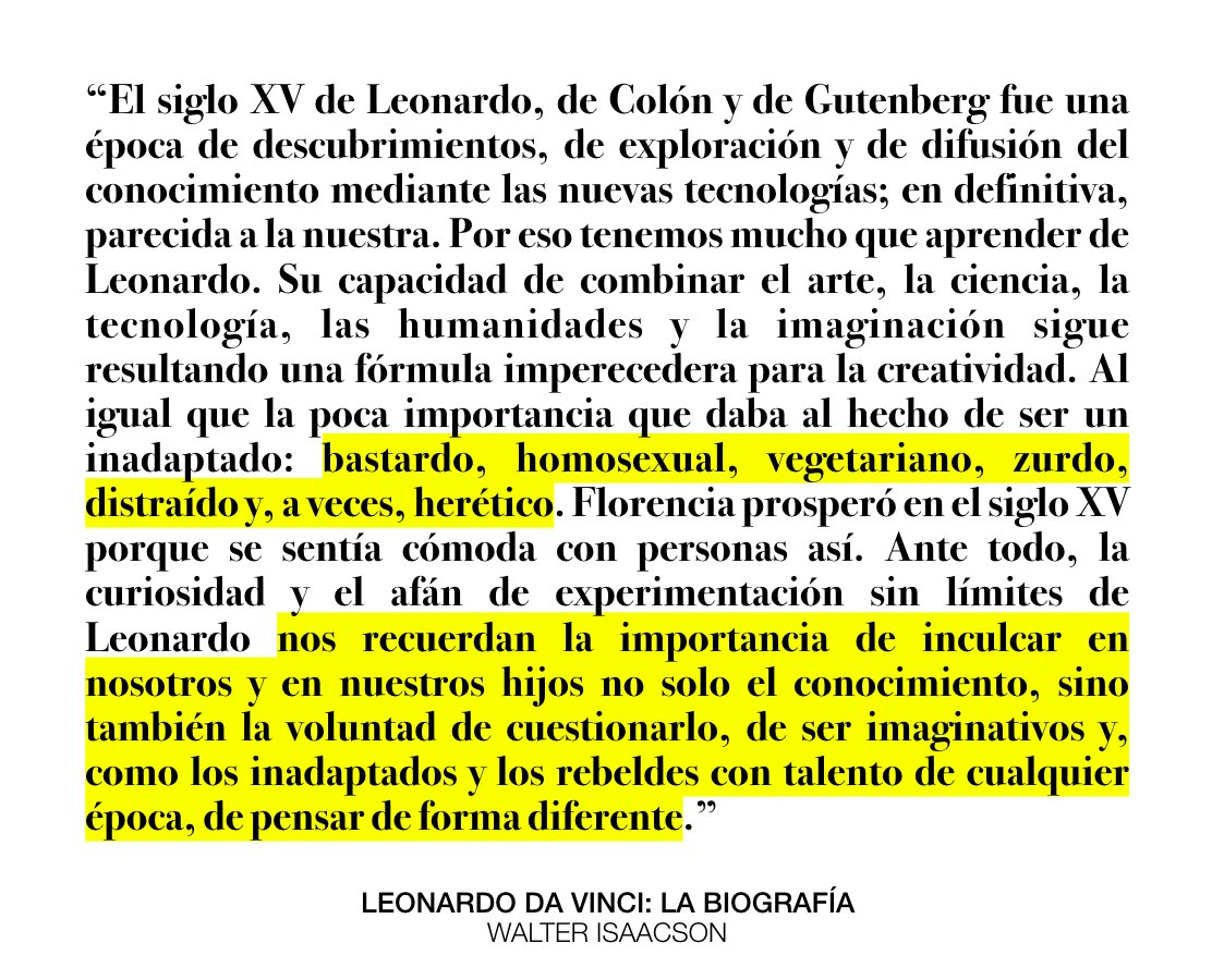Federico Kukso On Twitter Leonardo Da Vinci La Biografía De Walter Isaacson En Redaccioncomar Https T Co Vngl5ah24k