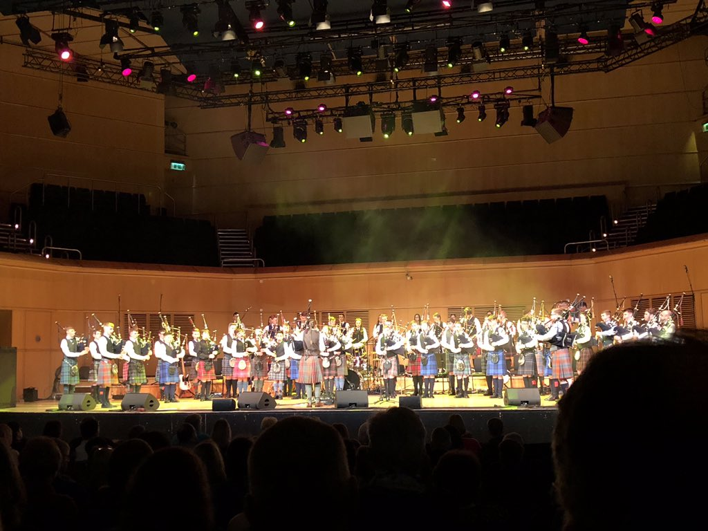 Well done to the National Youth Pipe Band of Scotland (@nypbos) for a brilliant performance today as part of @ccfest 🙌⚡️🙌  @GCHalls