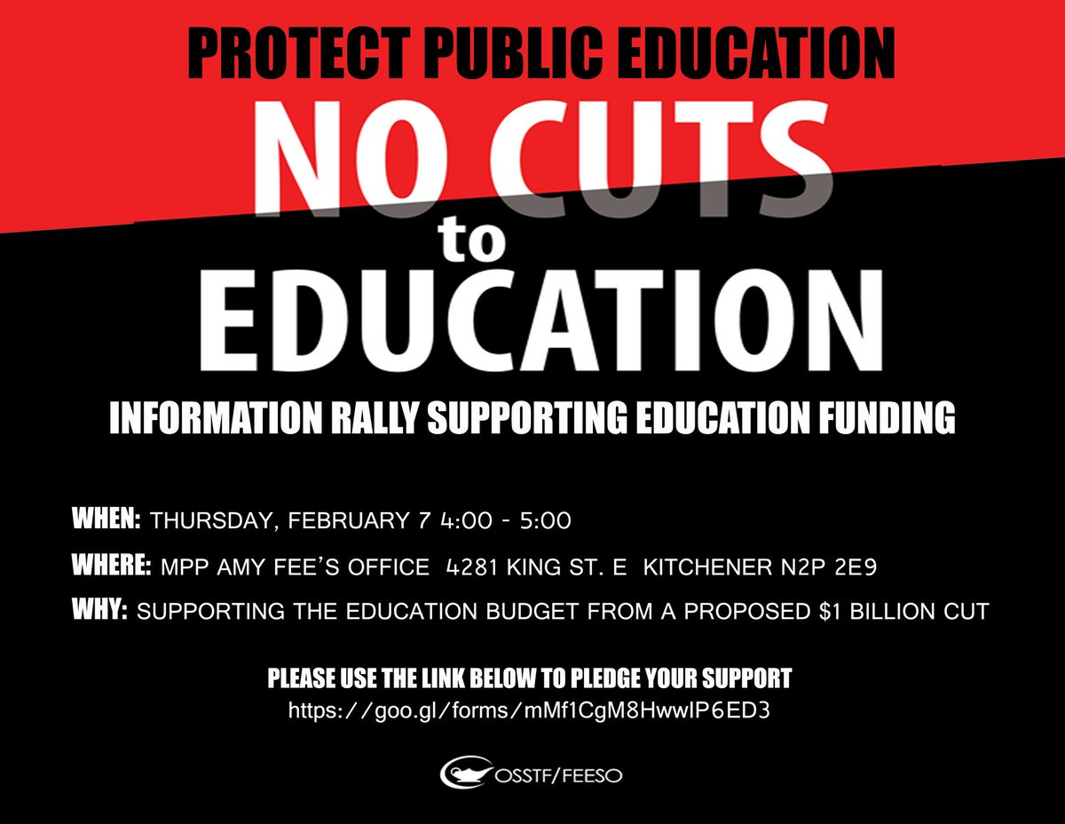 Rally Against Cuts to Education @ Amy Fee's Office