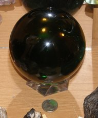 4 inch andara glass sphere by jim meeker