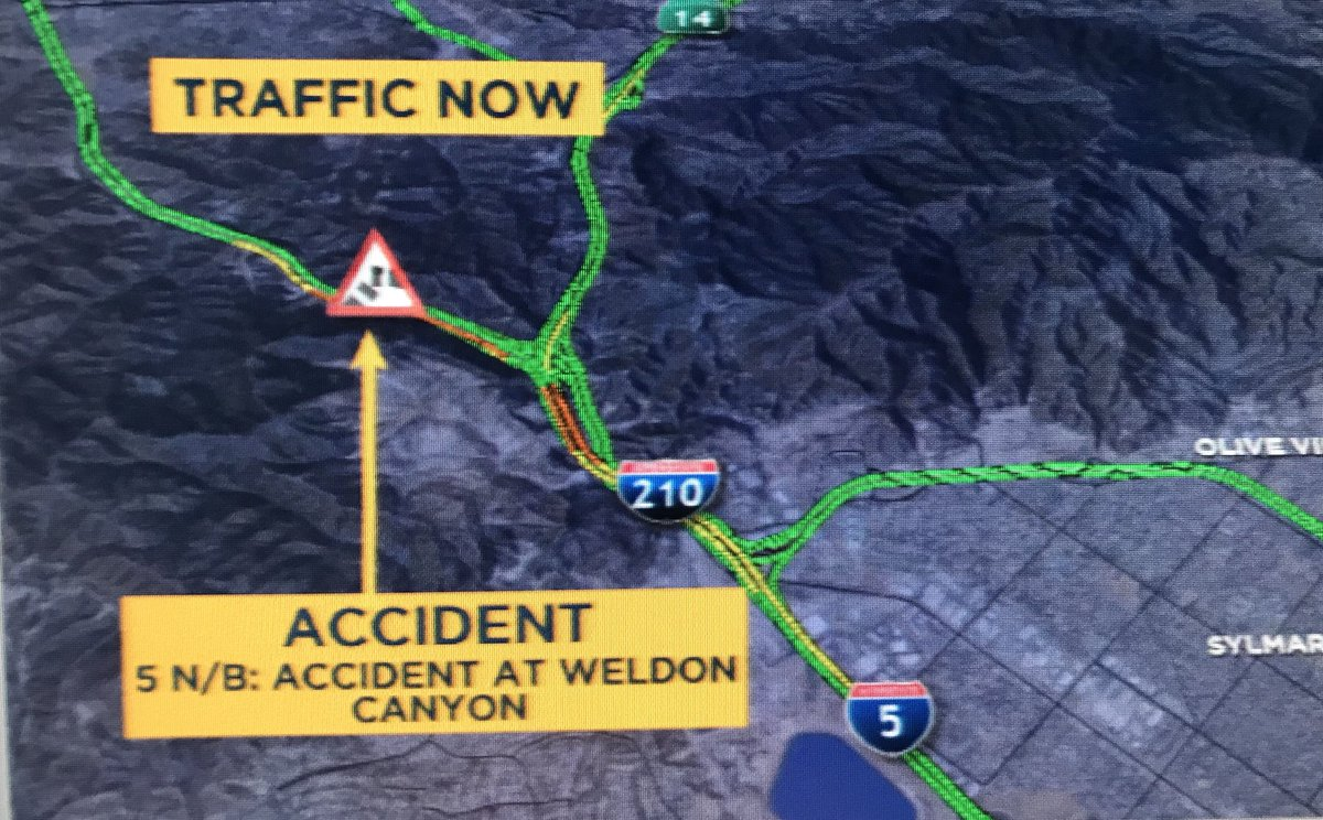 Abc7 Traffic Map.Kimi Evans On Twitter Abc7trafficalert Nb 5 At Weldon Canyon