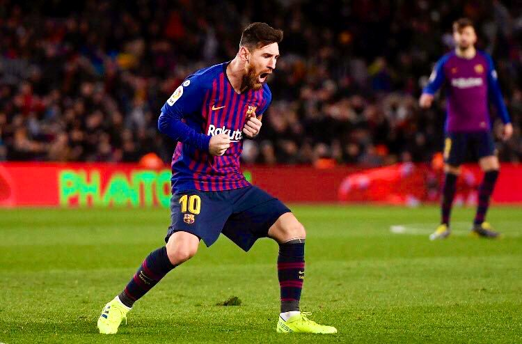 Messi's statistics 2018/19 (all comps.):  27 matches 29 goals (4 FK) 14 assists 10 shots off woodwork 95 dribbles completed 91 chances created  Simply the greatest.