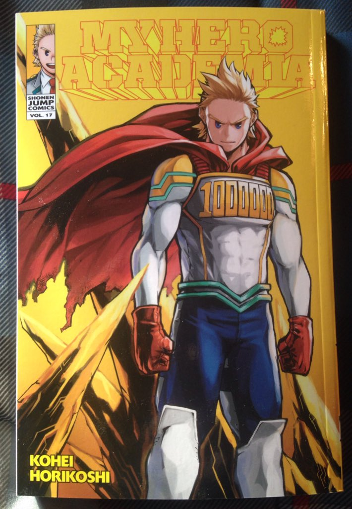 This is the one I have been waiting for! Got Volume 17 of My Hero Academia 3 days early! My boy Lemillion on the cover. My girl Eri on the back. My favorite double spread page with Overhaul. I can't wait to see all of this animated in Season 4!!