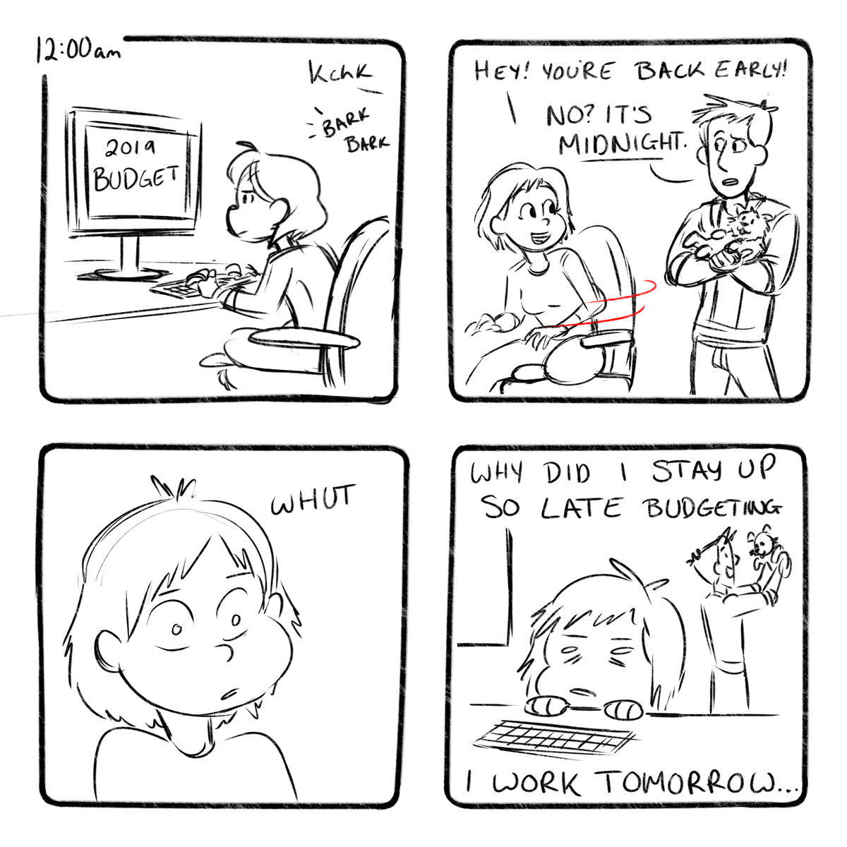 Yesterday was pretty busy so I didn't have time to do hourlies...but catching up today! These are based on yesterdays events. OTL   #hourlies #hourlies2019 #comicstrip