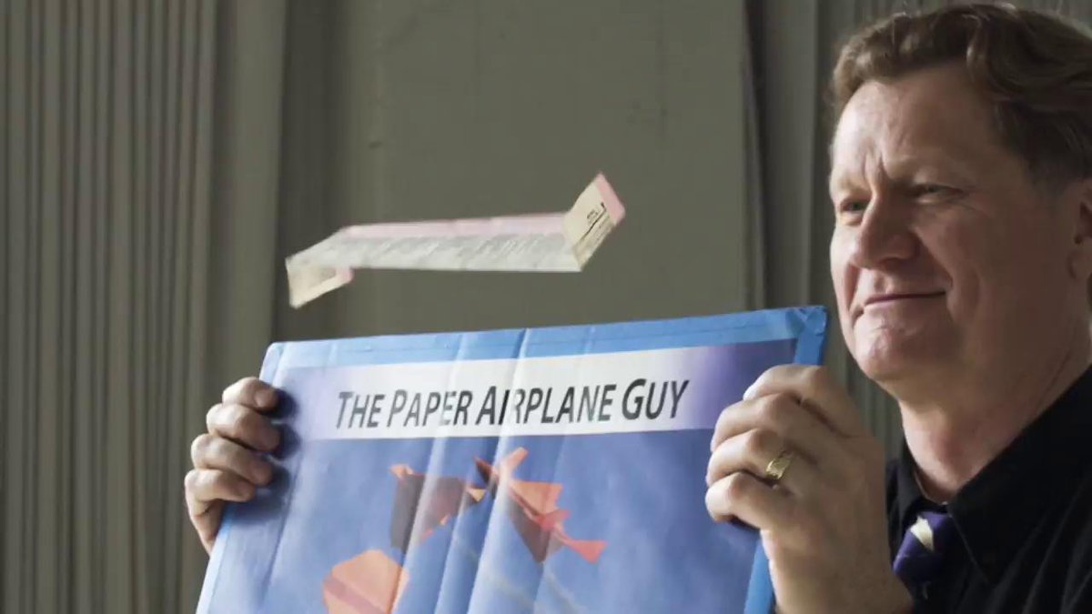 Here's how to build the tumbling wing plane: a paper airplane that floats endlessly