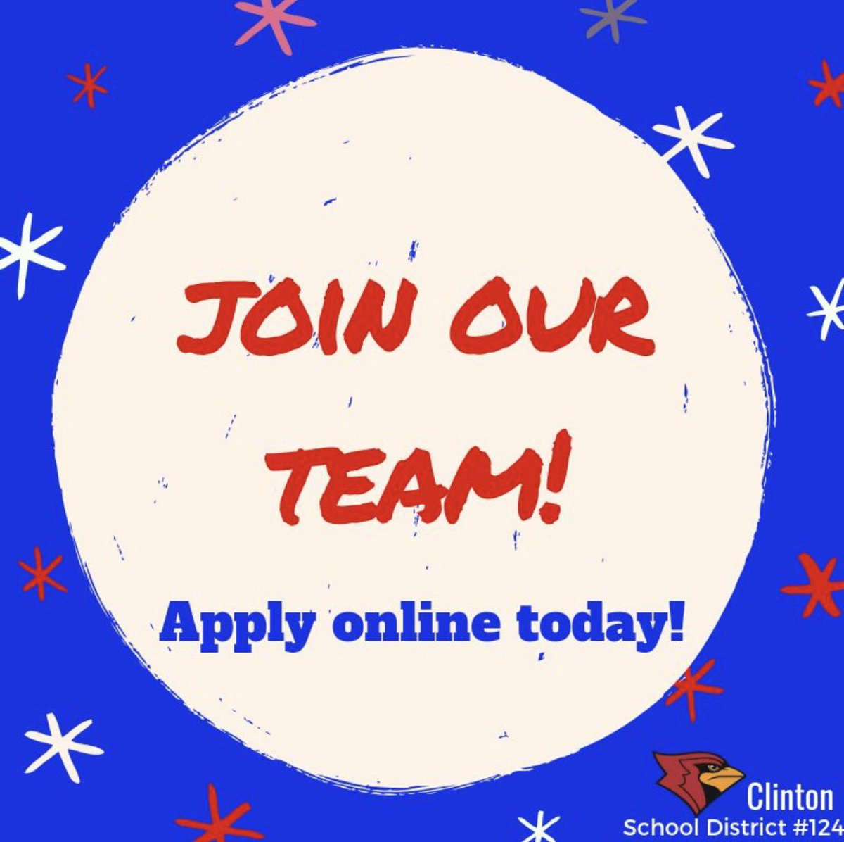 Looking for a great place to work, or know someone who is? Check out our teaching opportunities for the 19-20 school year. https://clintonsd.tedk12.com/hire/Index.aspx  @HenryElementary @CIScards345 @CMSCardinals @CHSCards @ClintonTechSch  #CardinalPride