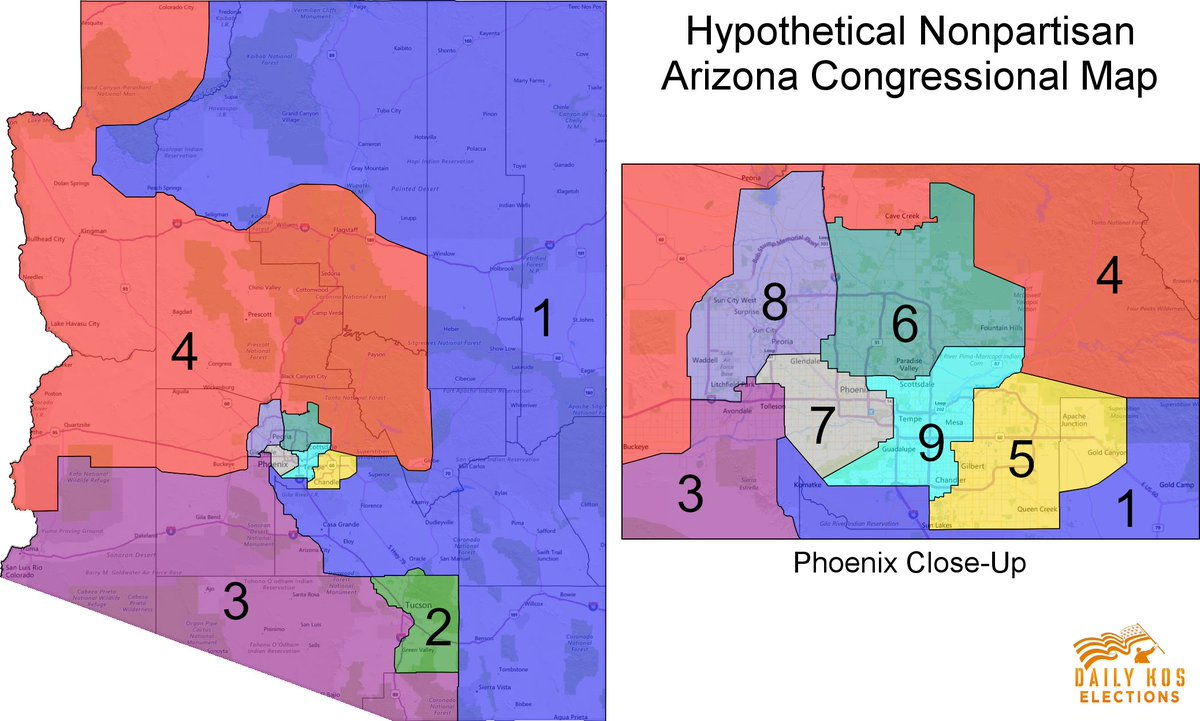 Map Of Arizona Voting Districts.Stephen Wolf On Twitter My Latest Nonpartisan Arizona
