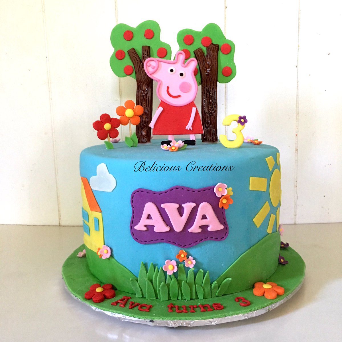 Terrific Belicious Creations On Twitter Ava Turns 3 With Her Peppa Pig Personalised Birthday Cards Paralily Jamesorg