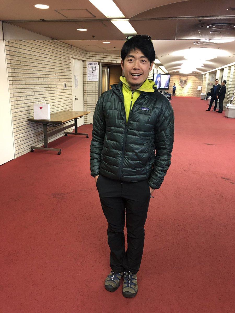 会場で面白そうなお兄さんを発見! 自転車に乗ってない #西川昌徳 まさやん! ヨスミさんがトークライブにご招待したそう。  実は彼、若者に人気のTOKYO FMのあの番組に出るのが夢なんだってー。 #四角大輔 #TOKYOFM #きっと夢叶うよ