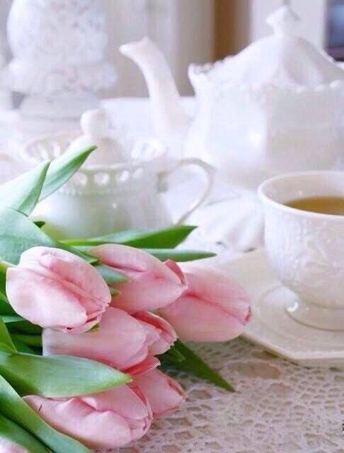любителей фото доброе утро с тюльпанами откинув