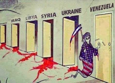 No more Vietnams No more Afghanistans No more Iraqs No more Libyas HAND OFF VENEZUELA!!! #ImperialismEndsHere #Marr