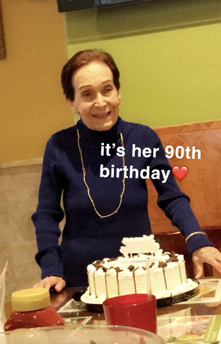 My great grandma turned 90 today look at how pure this picture is. I love her with all my heart 😭😭😭 https://t.co/SGUg7SDrVh