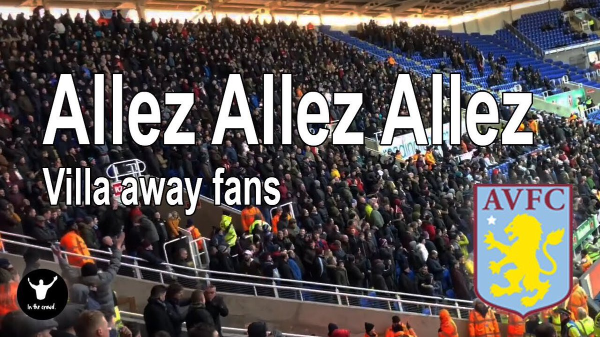 Villa fans singing their version of the Allez chant yesterday (with subtitles for anyone wondering what the words are).. 👇🏻  Link: http://youtu.be/OekBmiu7AAY  The Brummie accent belting out 'Nineteen-Eighty-Twoooo!' sounds quality.