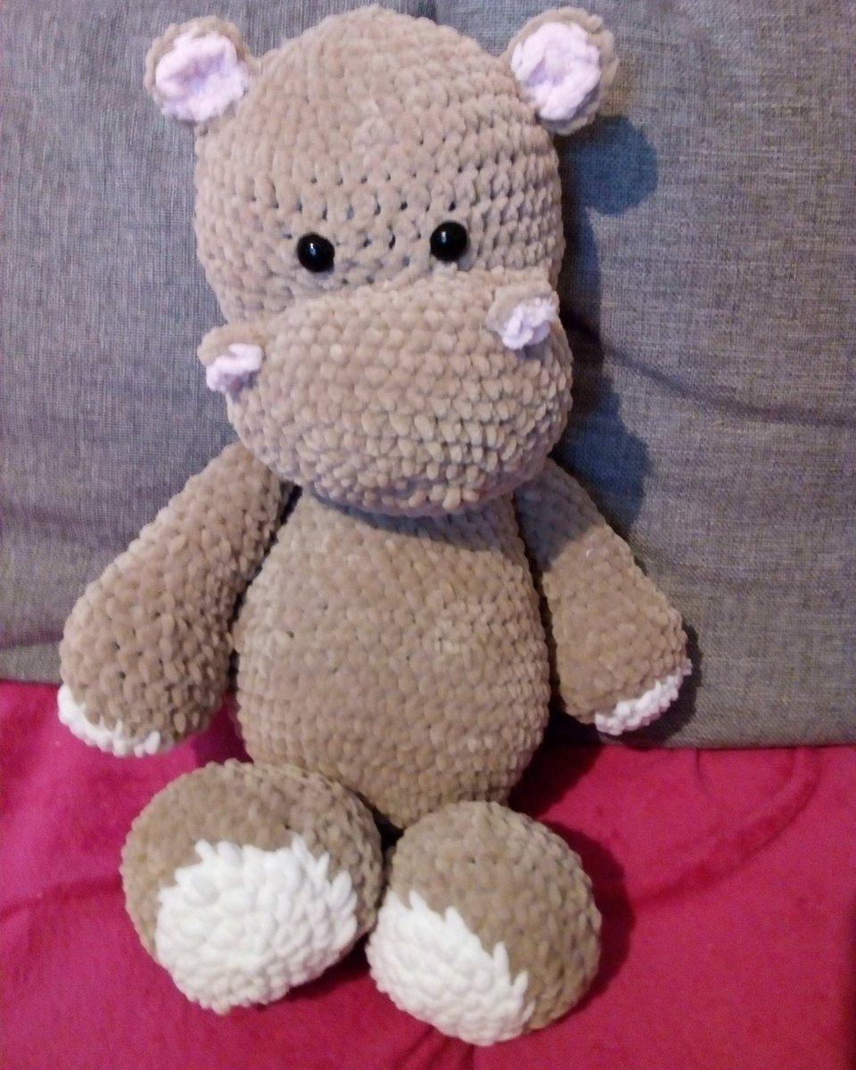 Glückliches Nilpferd - Häkelanleitung | Nilpferd häkeln, Tiere ... | 1200x960