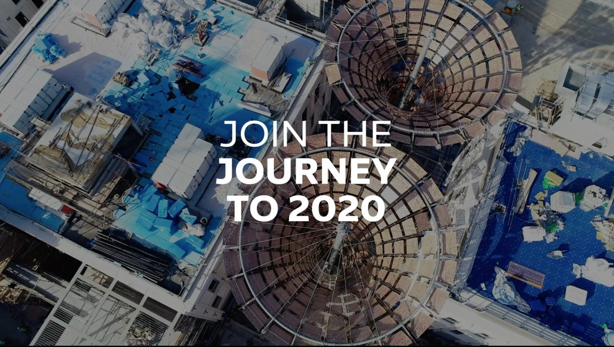 The remarkable evolution of the #Expo2020 #Dubai site continues at pace, as shown in our brand new drone footage.