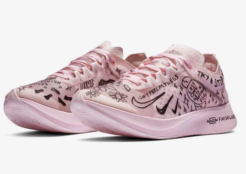check out 1b4a8 c85e9 Nike Zoom Fly SP Fast Nathan Bell Blanc/Mousse Rose/Noir pas cher prix  Baskets Femme Nike 170.00 € TTC. http://bit.ly/2Bg96lR #iziva #Nike  #BasketsFemme ...
