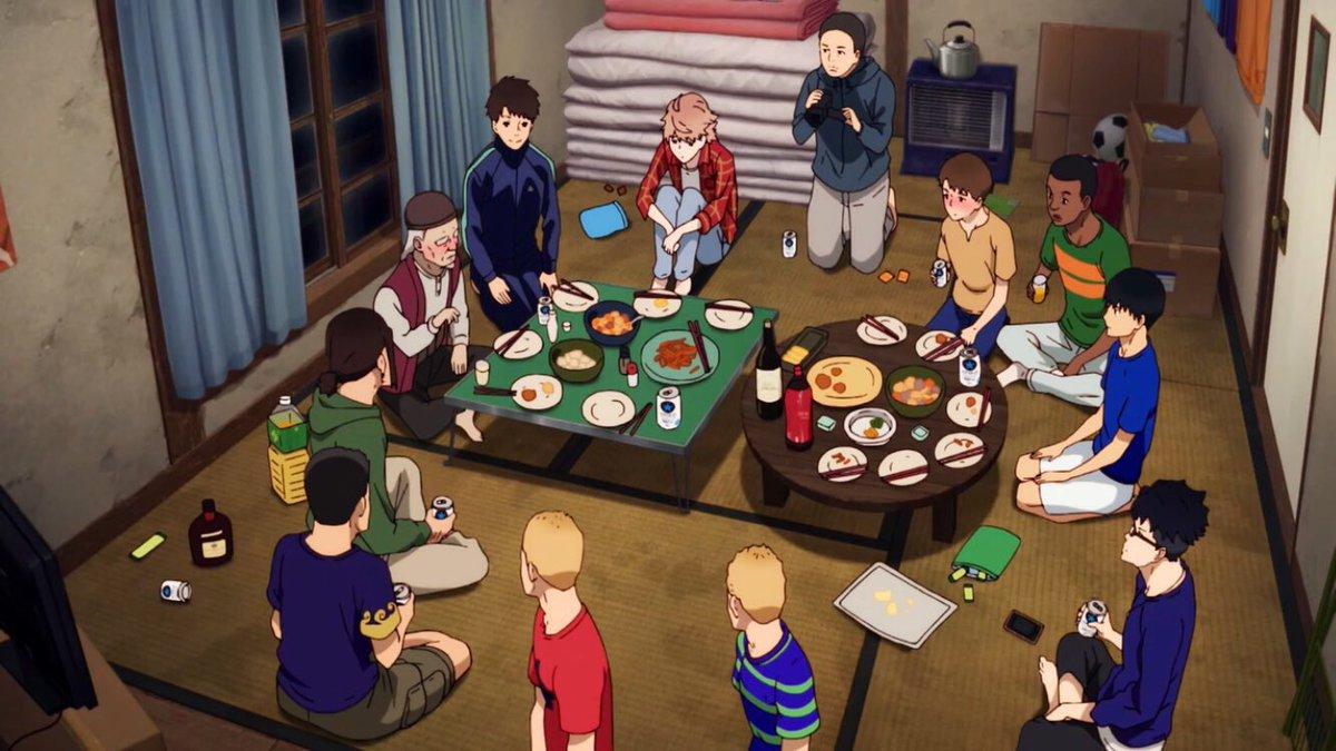 アニメ風が強く吹いている15話、箱根予選本番2日前飲み会で監督が話すシーン
